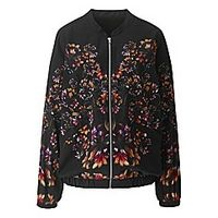 Mirrored Print Bomber Jacket - Large Size Clothing and Maternity Wear - www.plussizedglamour.co.uk