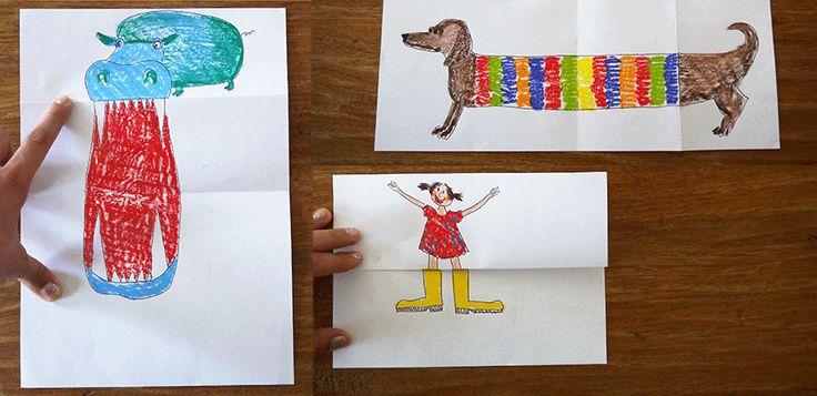 Kennt ihrFalt-Tiere und Falt-Menschen? Hier ist ein ganz einfacher Trick mit vielSpaß – beim Zeichnen und damit spielen: Alles was ihr dafür braucht sind Papier und Stifte. Ihr faltet das Blatt einmal in der Mitte und anschließend faltet ihr eine Seite wieder nach Außen. Dann malt ihr ein Wesen… zum Beispiel einen Hund. Jetzt faltet …