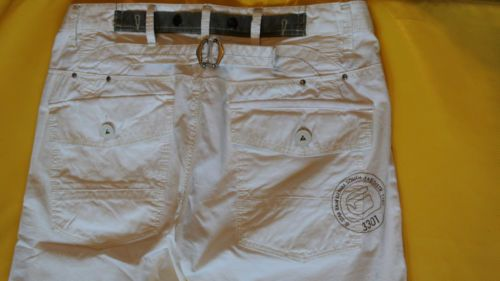 49$ G-Star-RAW-Women-039-s-ARMY-ELWOOD-NON-FIT-White-Cotton-Pants-W27-L32