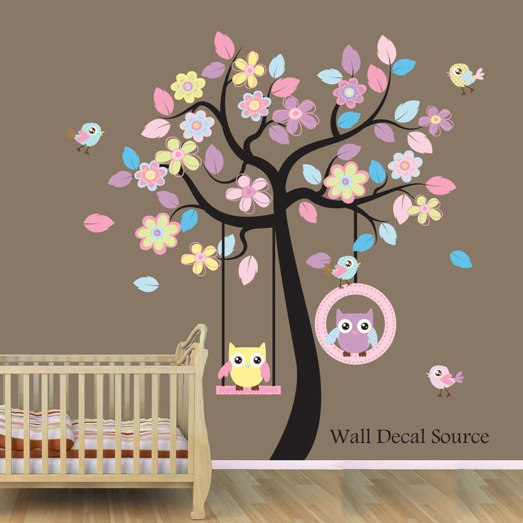 Brynlee Wall Decal  - Owl Wall Decal - Baby - Vinyl Sticker. $99.00, via Etsy.