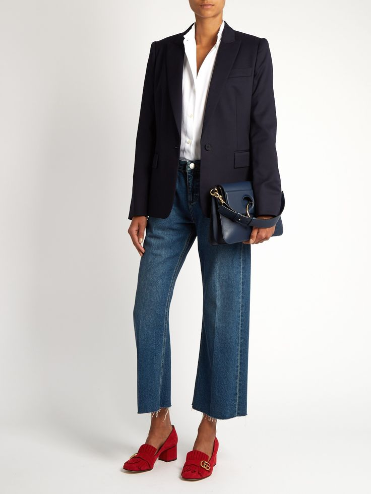 Ingrid single-breasted wool tailored jacket | Stella McCartney | MATCHESFASHION.COM UK