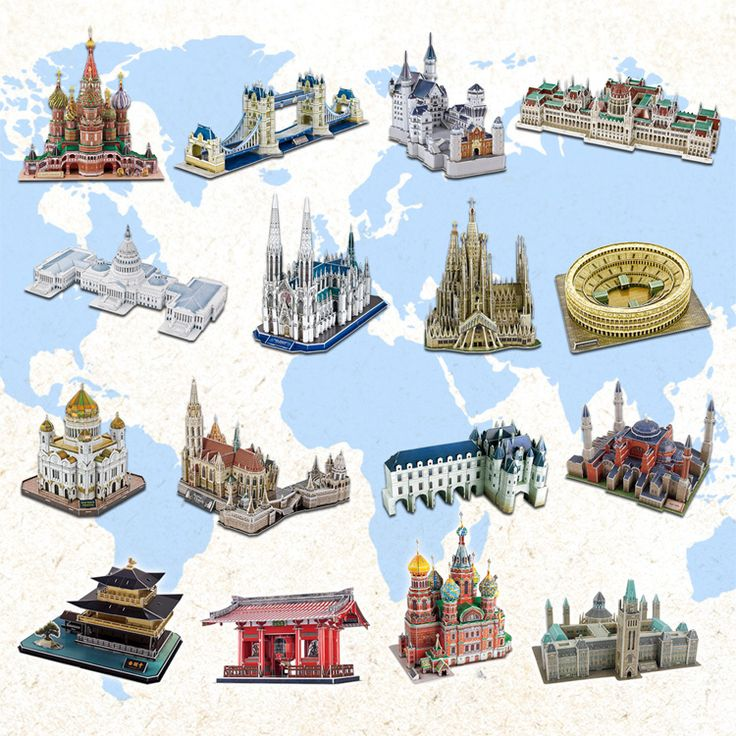 hot selling 3d difficult architecture Jigsaw puzzle model  paper diy learning&educational popular toys for boys & child & adult-in Puzzles from Toys & Hobbies on Aliexpress.com | Alibaba Group