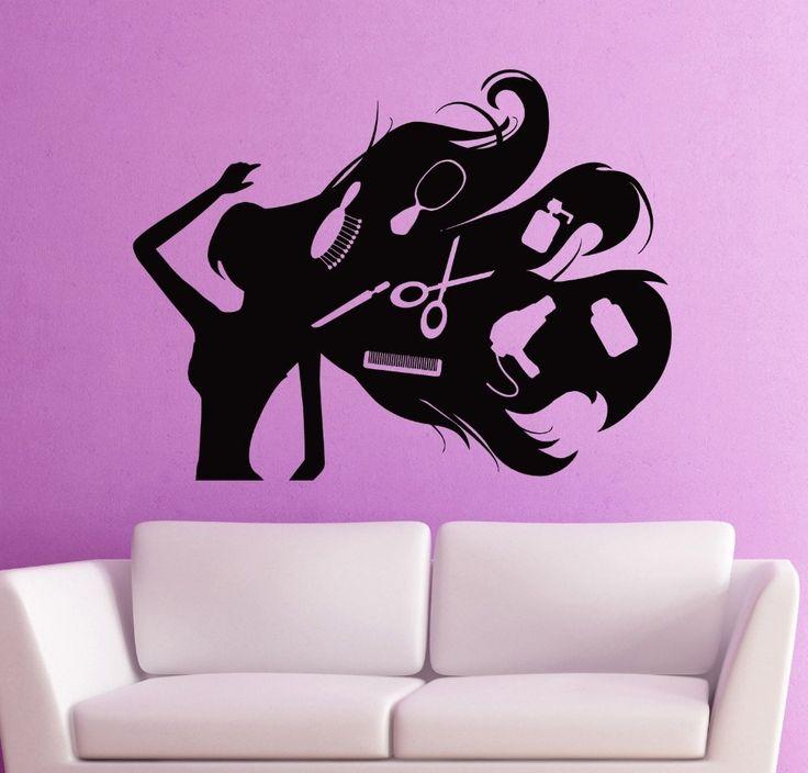 Grátis UNISEX envio cabelo tesoura salão de cabeleireiro beleza adesivos de parede decalque decoração Mural em Papéis de parede de Casa & jardim no AliExpress.com | Alibaba Group