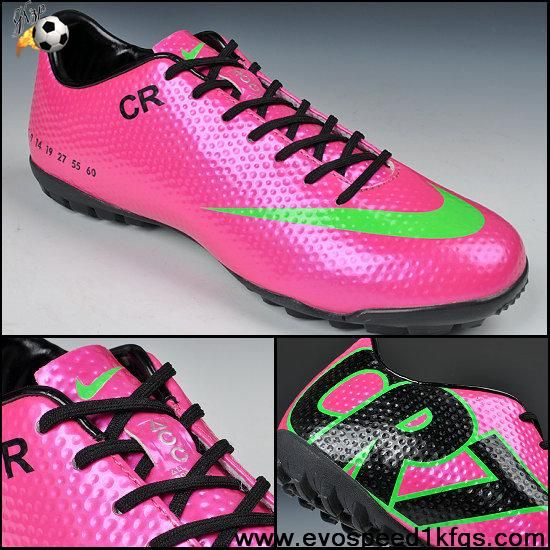 Wholesale Cheap Nike Mercurial CR7 SE-TF Purple Green Black Soccer Boots For Sale