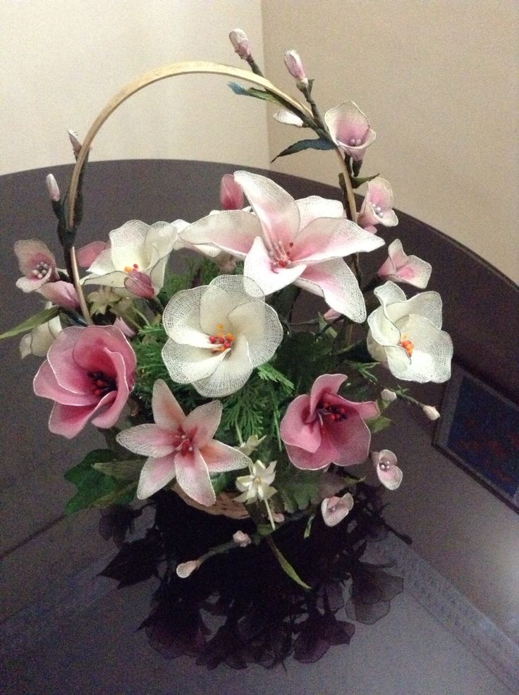 Nylon flower bouquet