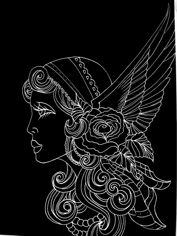 how to draw a gypsy head