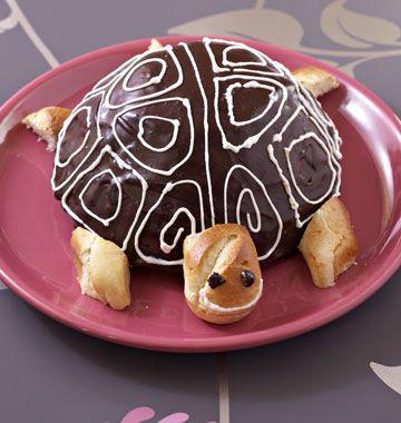 Gâteau d'anniversaire tortue - les meilleures recettes de cuisine d'Ôdélices