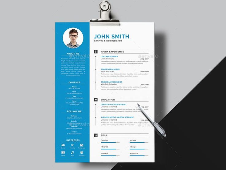 #Resume – Creative Touchs  This is Resume Templates is the super clean,The flexible page designs are easy to use and customize, modern and professional Resume templates to help you land that great job, you a need a great resume. The professionally-written resume examples below can help give you the inspiration you need to build an impressive resume of your own that impresses hiring managers and helps you land the job.