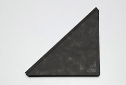 http://blog.museumofusefulthings.com/post/19290843219/saw-this-here-the-triangle-notebook-by-tanFun Notebooks, Durable Black, Notebooks Open, Black Fabrics, Triangles Notebooks, Tans Mavitan, Mavitan Design, Fabrics Covers, The Roller Coasters