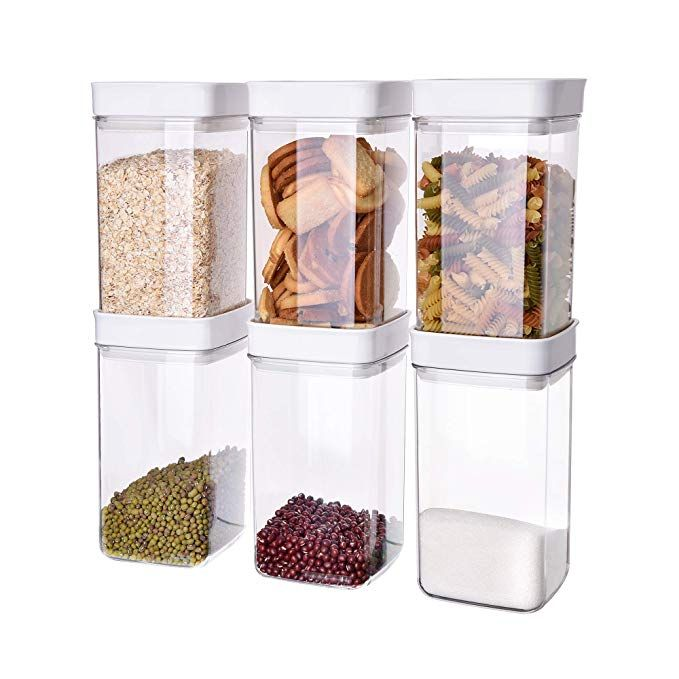 Ambergron Airtight Food Storage Containers With Lids 6 Pcs Set