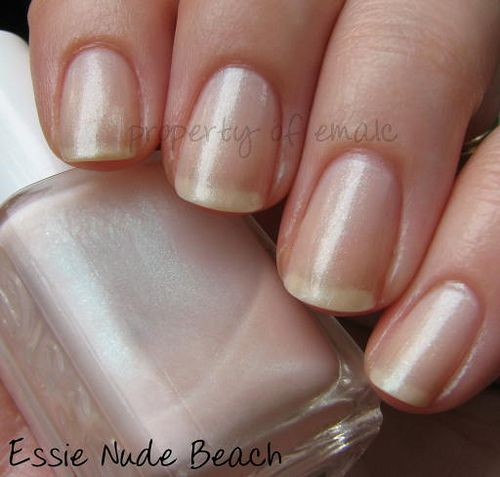 Essie Nude Beach - sheer and sparkly