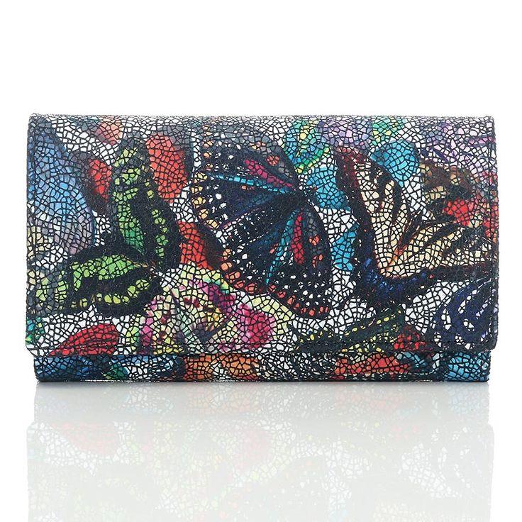 Paolo Peruzzi women wallet Italian Leather butterfly #PaoloPeruzzi, #Italiandesign #butterfly