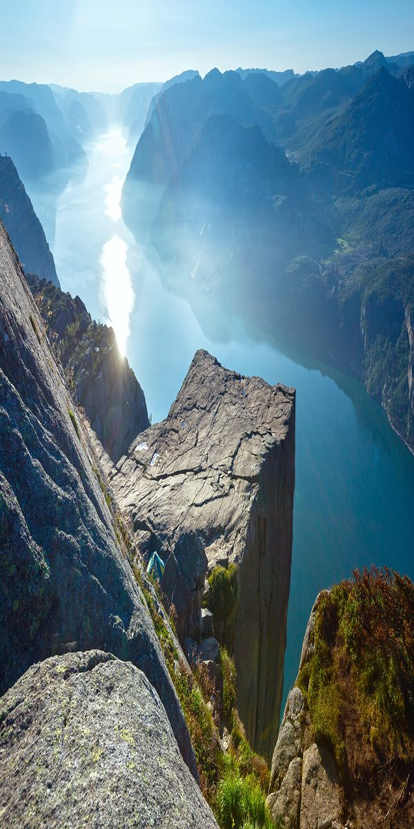 Trolltunga rock, Ringedalsvatnet lake, Norway Tiger's Nest Monastery, Bhutan Salar de Uyuni, Bolivia Jal Mahal, Jaipur, Rajasthan, India Cappadocia, Turkey