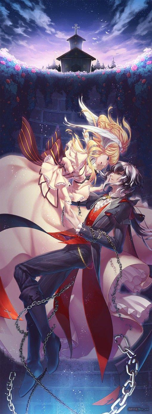 Anime Girl Art Illustration couple