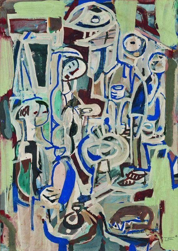 Ian Fairweather 'Cafe Tables'