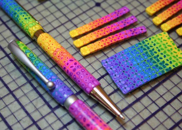 Урок по изготовлению ручки с узором из радужных маргариток | Полимерная глина уроки