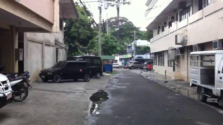 フィリピン留学セブ市中心街にあるNLS英語学校。目の前のDiplomatホテル滞在可能、校舎隣のドミトリー映像。