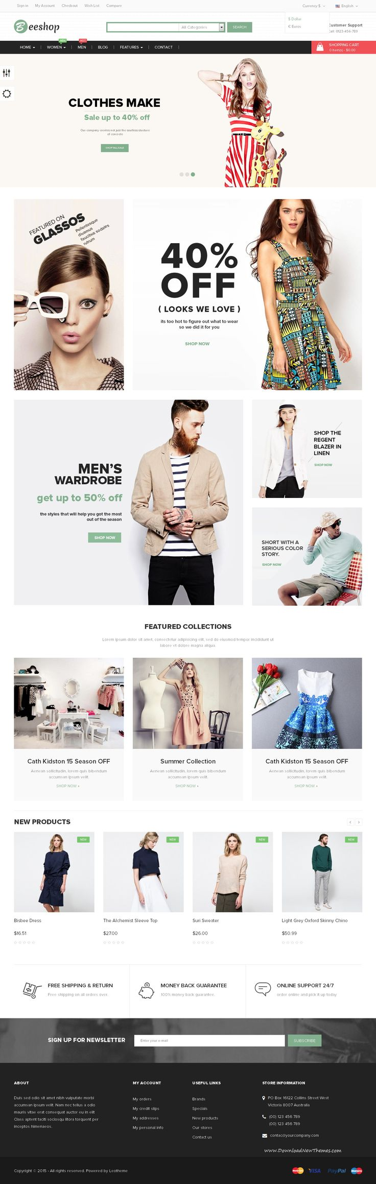 Leo Bee Shop is totally responsive multiple #prestashop theme. It has 4 homepages and was designed for diversified product so it is suitable for any #eCommerce sites as fashion stores, shoes stores, bag stores, cosmetic stores and multiple stores. #template