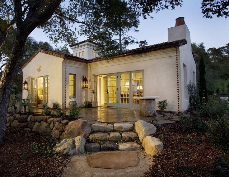 Montecito cottage-cottage deisign -windows -lighting -roof line  -fire place top