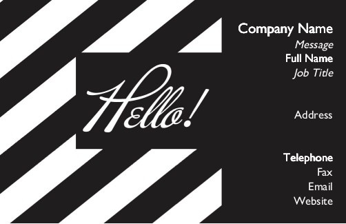 48 best new business card templates images on pinterest business order your right stripe business cards for high quality printing fast delivery reheart Images