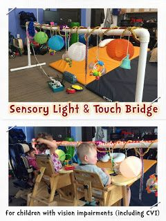 Build a sensory bridge for preschool children with vision impairments/multiple impairments! You can easily add assistive technology too!!