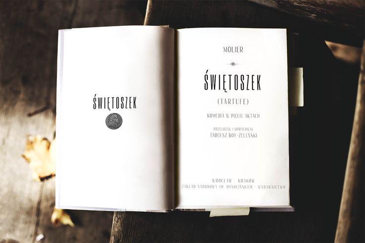 First book page - molier - by Marta Olszewska