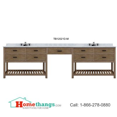 Photo Image Sagehill Designs Toby Modular Double Bathroom Vanity With Drawers And Makeup Station TBD