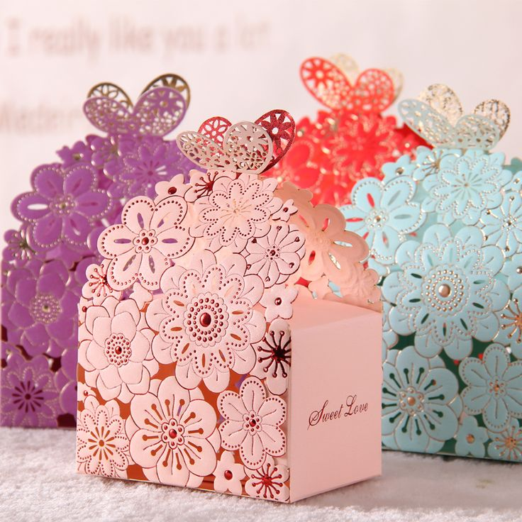 2016 Blue/Red Lace Butterfly Laser Cut Wedding Favor Boxes Wedding Candy Box 50pcs Sweet Gift Wedding Favors And Gifts Casamento-in Event & Party Supplies from Home, Kitchen & Garden on Aliexpress.com | Alibaba Group