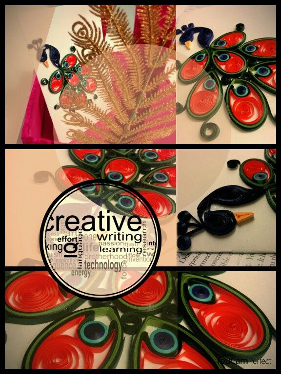 #quilling #quilled #handmade #peacock