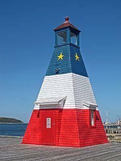 Faro del puerto de Cheticamp, Nueva Escocia