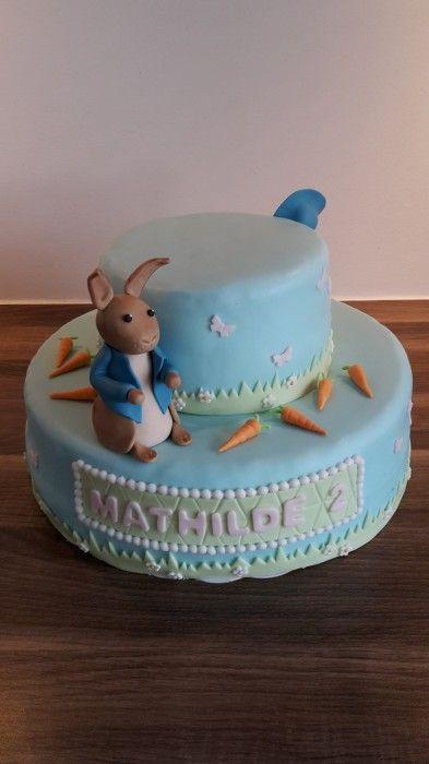 Pieter Konijn taart 2-zijdig / Peter Rabbit cake