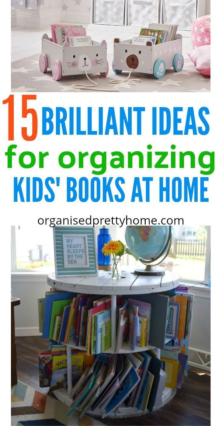 4444e107cc3 Check out these 15 awesome storage ideas to store children s books in play  room or bedroom. Get kids reading more. DIY spice racks