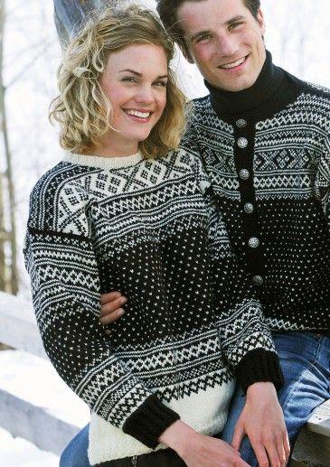 Setesdal genser - Prøv å strikk som kofte (Safirgarn frå sparkjøp grøn + kvit)