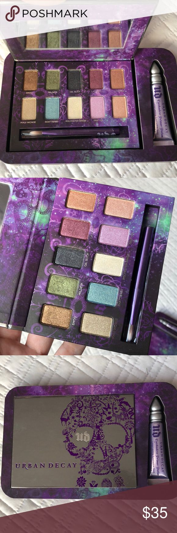 NWT Urban Decay Ammo Palette Brand new! Green was swatched once. Primer included also never used. Brush and mirror still in plastic. Also have the clear box it came in! Urban Decay Makeup Eyeshadow