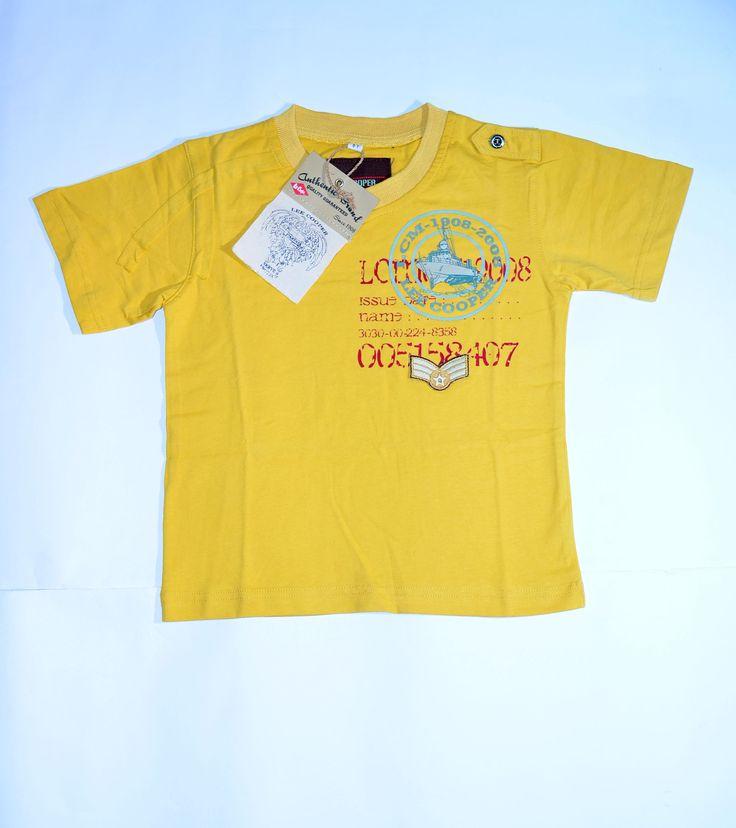 Kaos anak Lee Cooper Warna kuning. Untuk usia 3-4 tahun. Produk dijamin ORIGINAL. Harga 69.900. Pemesanan dan informasi 08811812709 pin BB 3324064E atau KLIK>>>http://goo.gl/rpueqd
