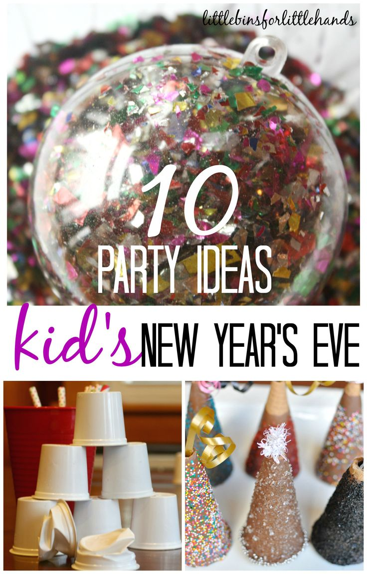 Put together a simple New Years Eve party for kids! 10 easy ways to make the night special with fun New Years Eve party ideas for games, treats, and play!