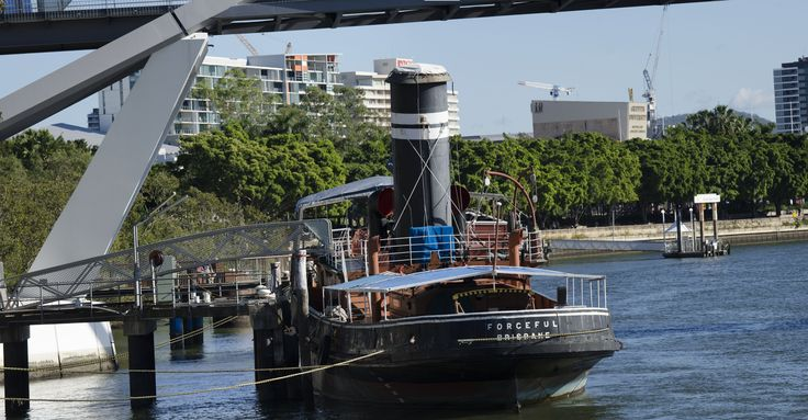 The Steam Tug Forceful at the Brisbane Maritime Museum.