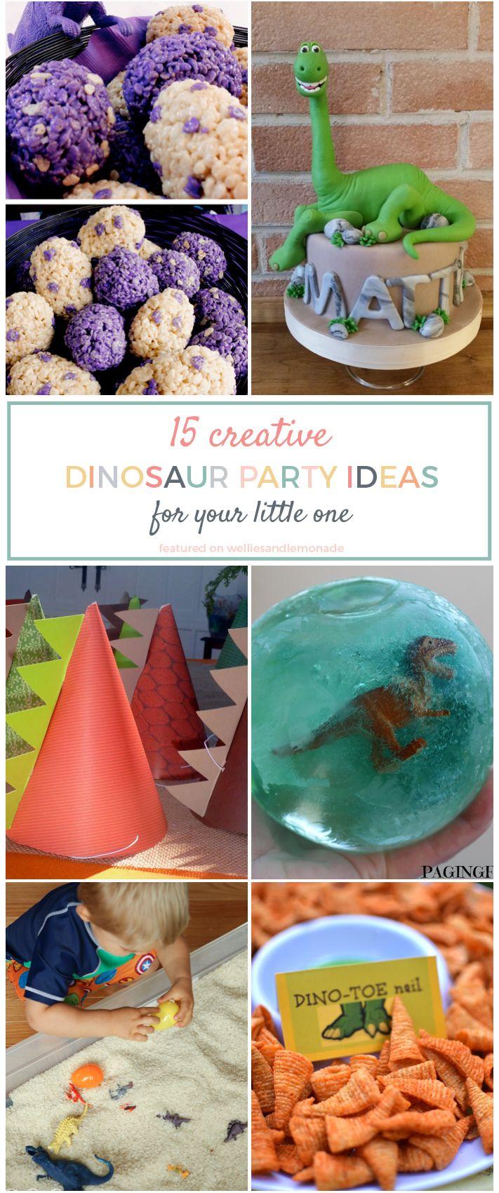 15 Creative Dinosaur Party Ideas For Your Little Onea BirthdayDinosaur Themed FoodDinosaur