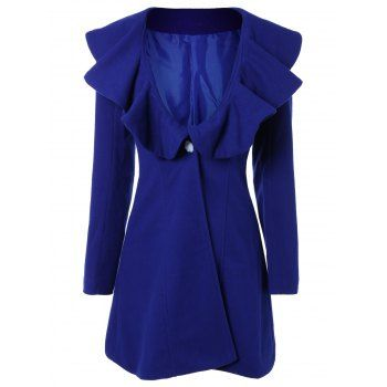 SHARE & Get it FREE | High Waist Flounce Single Breasted Wool Blend CoatFor Fashion Lovers only:80,000+ Items·FREE SHIPPING Join Dresslily: Get YOUR $50 NOW!