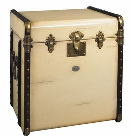 Authentic Models Stateroom Trunk End Table, Ivory
