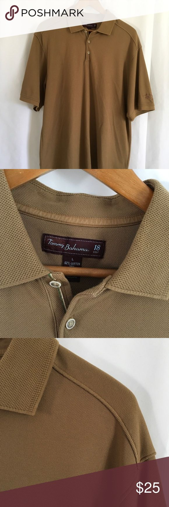 Tommy Bahama Golf Polo shirt Gently used Tommy Bahama brown Golf Polo shirt size large Tommy Bahama Shirts Polos
