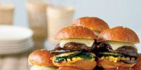 Each succulent mini burger also features tender grilled zucchini, squash, and eggplant.