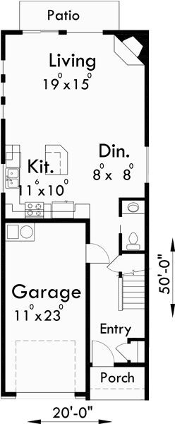 Image result for duplex plans for narrow lots floor plans in 2018