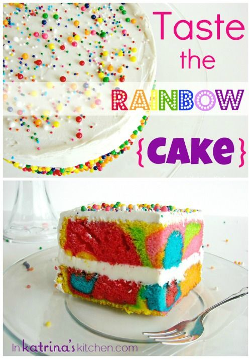 Rainbow Cake Recipe and Tutorial Because, sometimes you just need to have a piece of psychedelic cake.