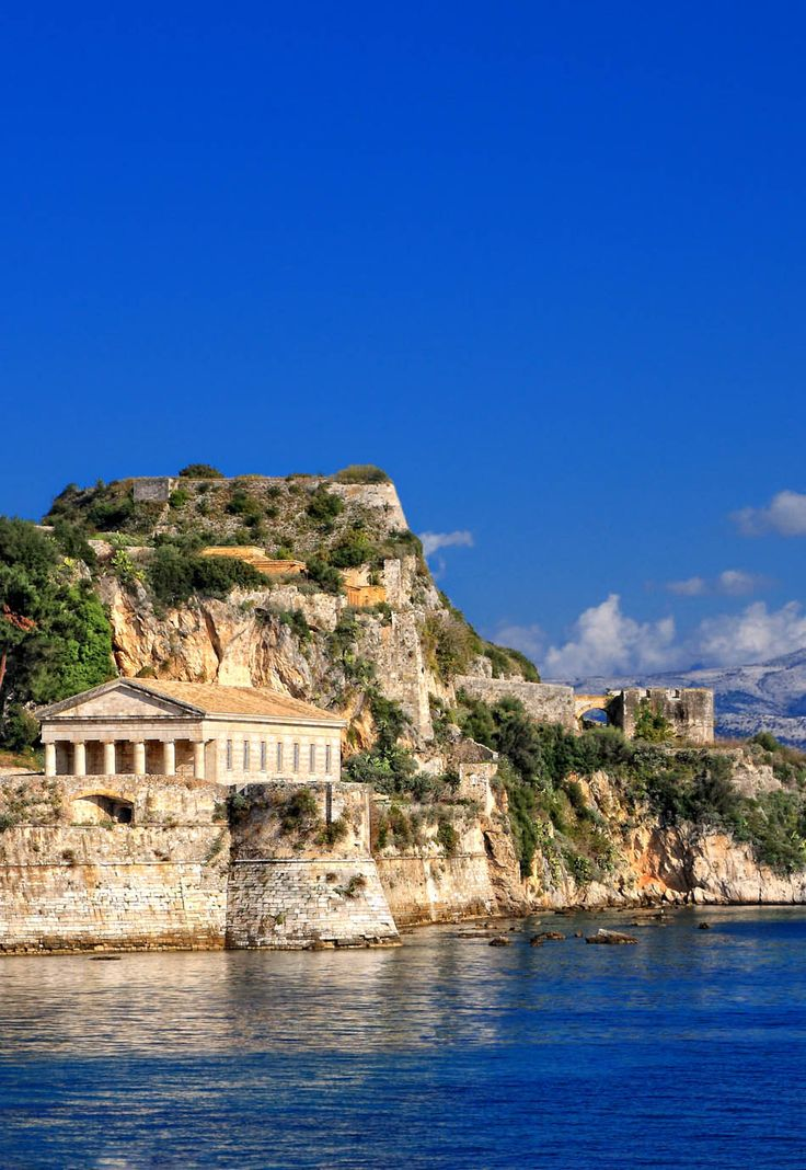Hellenic temple at Corfu island, Greece [Thorpes]