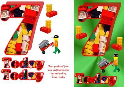 A nice card for a little boy aged 7 that has lego on it, little boys love Lego.  Fits A5 envelope when finished