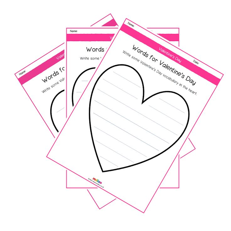 These set of worksheets aim to explore a range of vocabulary associated with Valentine's Day. Students will write down many words that they can think of related to Valentine's Day. Worksheets come as plain, lined or double-spaced lined for different learning abilities.