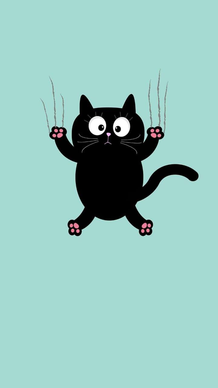 Pin Von Nour Mohammed Auf Iphone Wallpapers Cartoon Wallpaper Niedliche Hintergrundbilder Illustration Katze