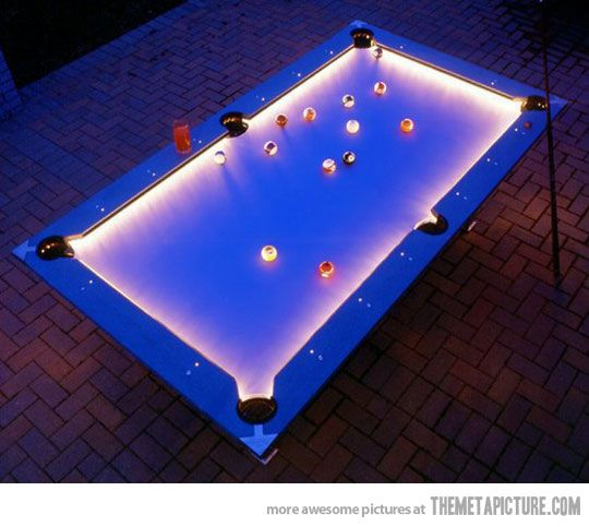 Outdoor pool table.: Ideas, Man Cave, Stuff, Pool Tables, House, Mancave, Pools, Pooltables