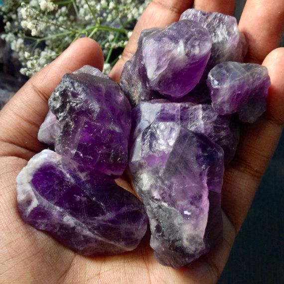 3-5 Pieces Rough Amethyst 100 grams Lot 1-2inches by SolsticeStore